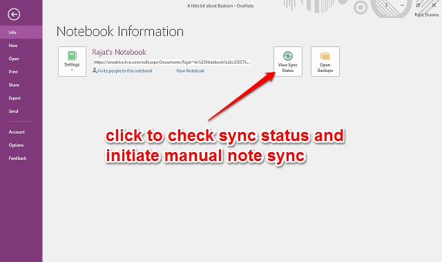 onenote note sync