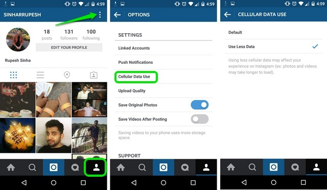 Instagram Android stop autoplay