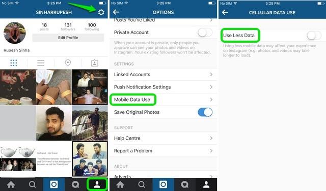 Instagram iOS stop autoplay videos