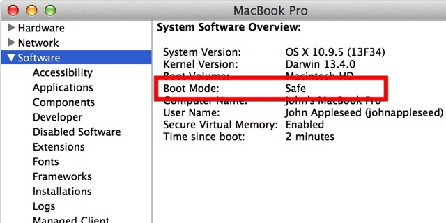 Mac Boot Options -bb- Safe Mode