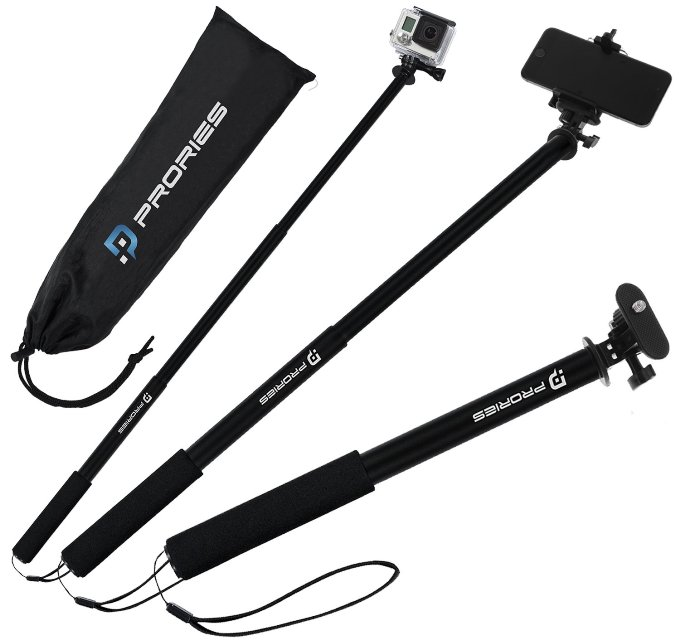Prories Monopod Selfie Stick for GoPro