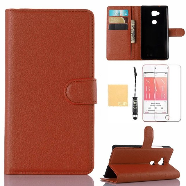 SLMY Leather Flip Wallet Case for Honor 5X