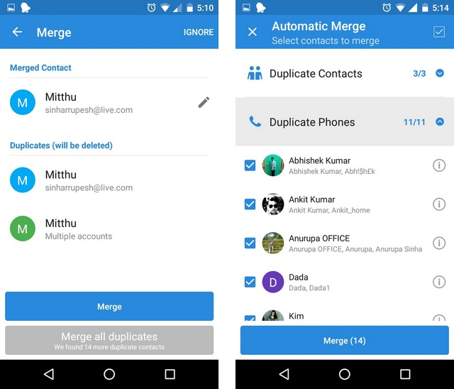 Simpler Merge duplicate contacts 2