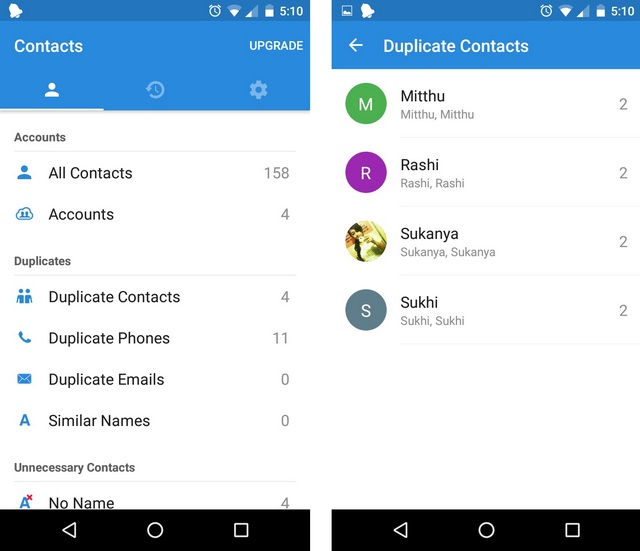 Simpler Merge duplicate contacts