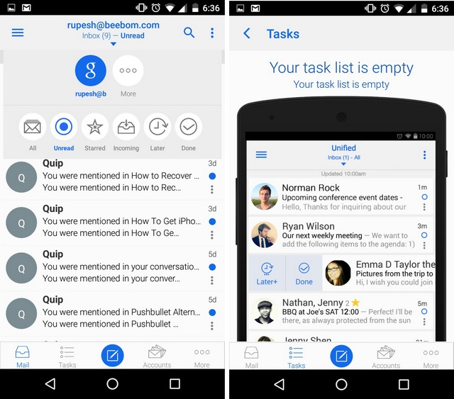 Type Mail app