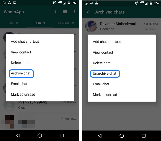 WhatsApp tricks Archive chats 1
