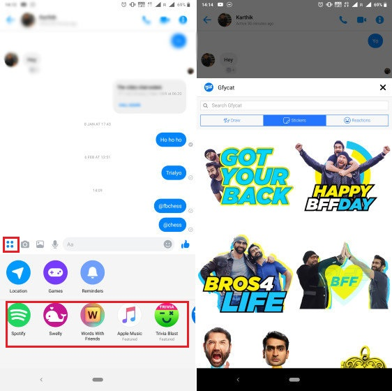 12. Use Apps Inside Facebook Messenger