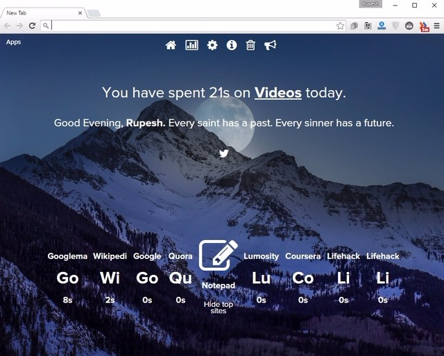 Be Limitless Chrome extension