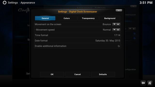 Kodi change Screensaver