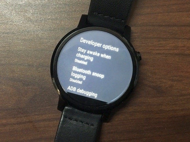 Moto 360 Developer Options