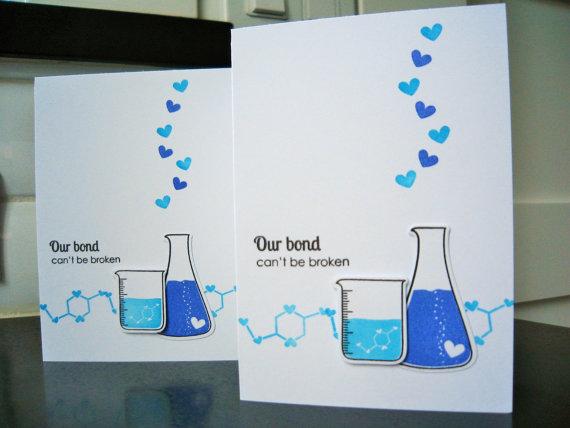 Science Beaker Geeky Valentines Day Card