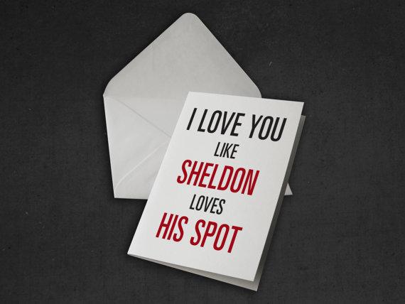 Sheldon Geeky Card