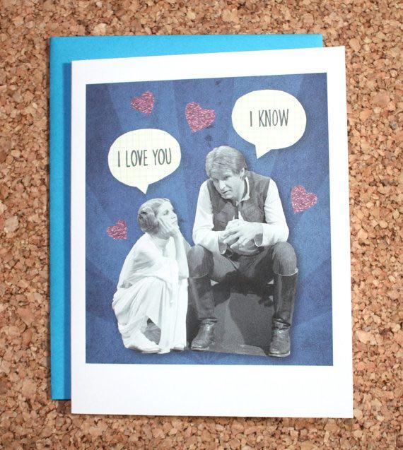 Star Wars Card, I love you I know
