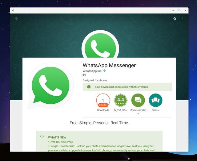 WhatsApp Play Store Remix OS