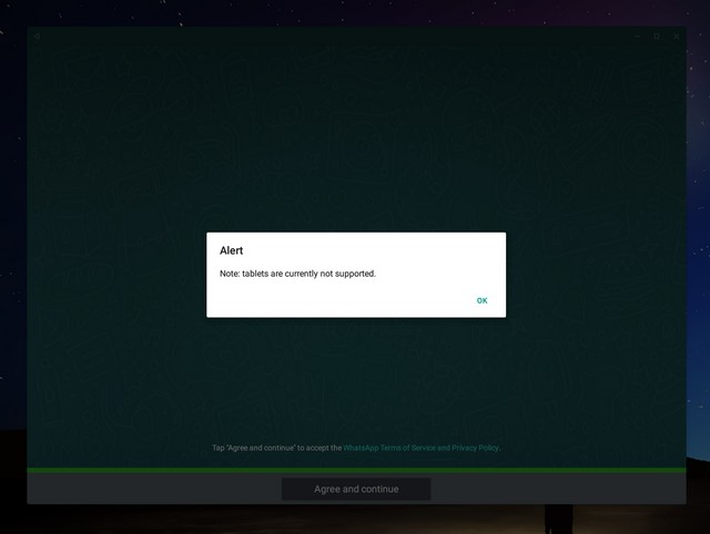 WhatsApp not supported Remix OS