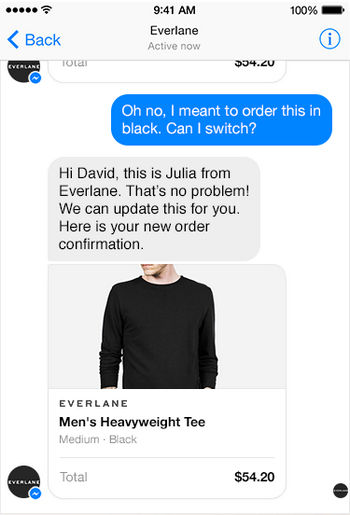 facebook business chat