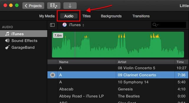 iMovie - Adding Audio