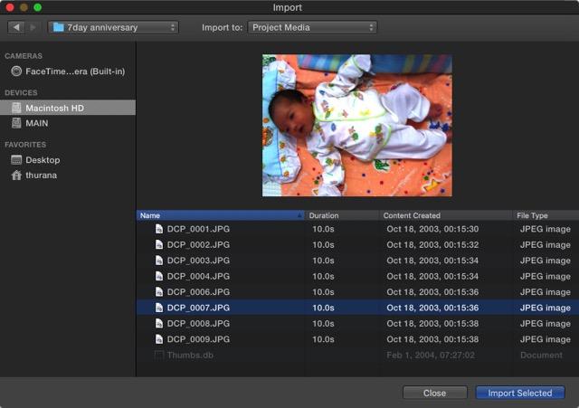 iMovie - Import Source 2