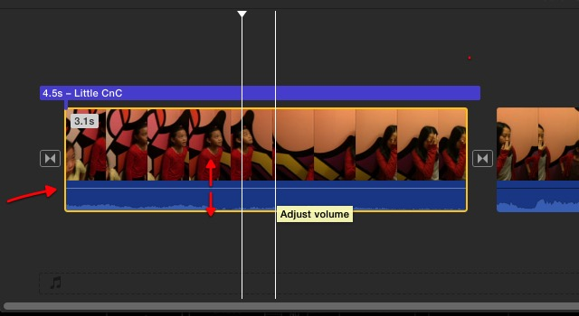 iMovie - adjusting volume