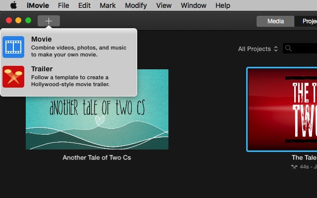 iMovie - create a full movie