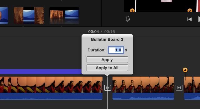 iMovie - edit transition