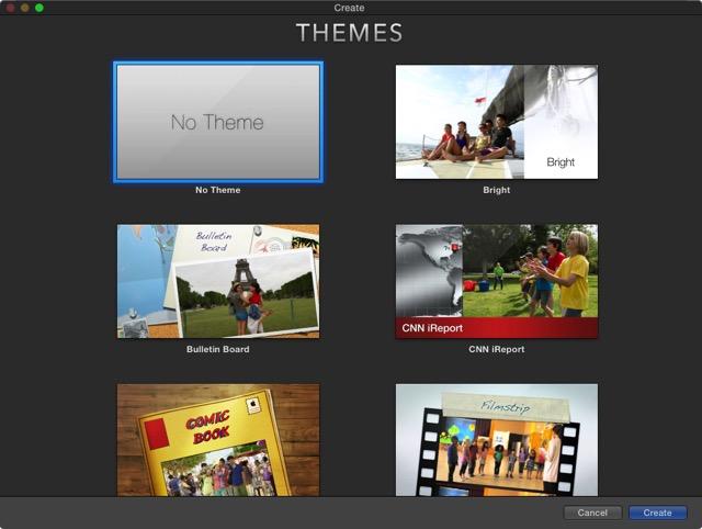 iMovie - movie themes