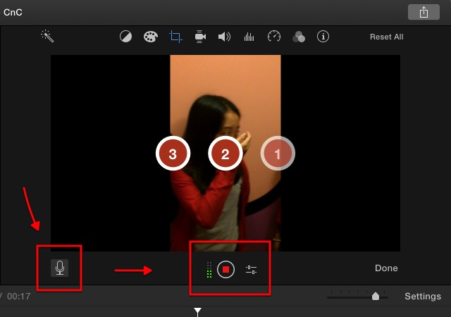 iMovie - record voice over