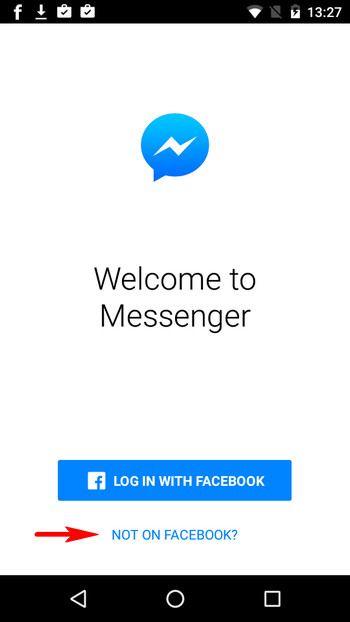 use messenger without fb