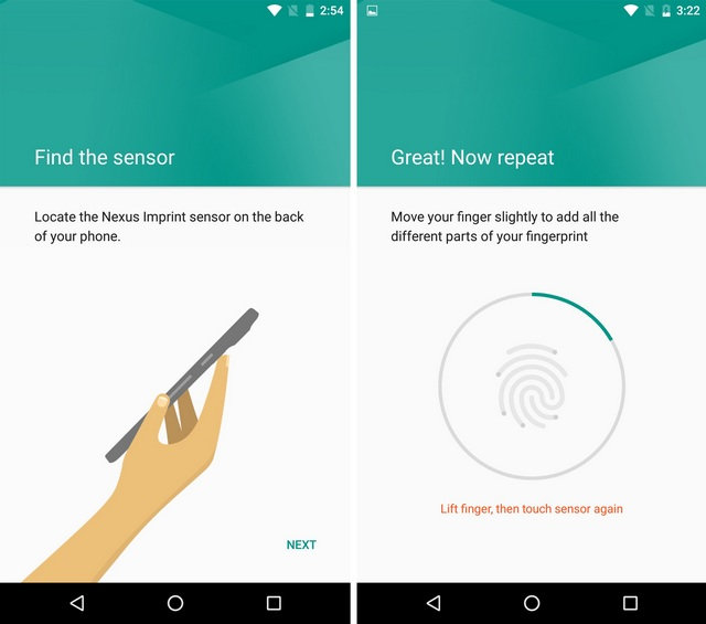 Android Fingerabdruck hinzufügen