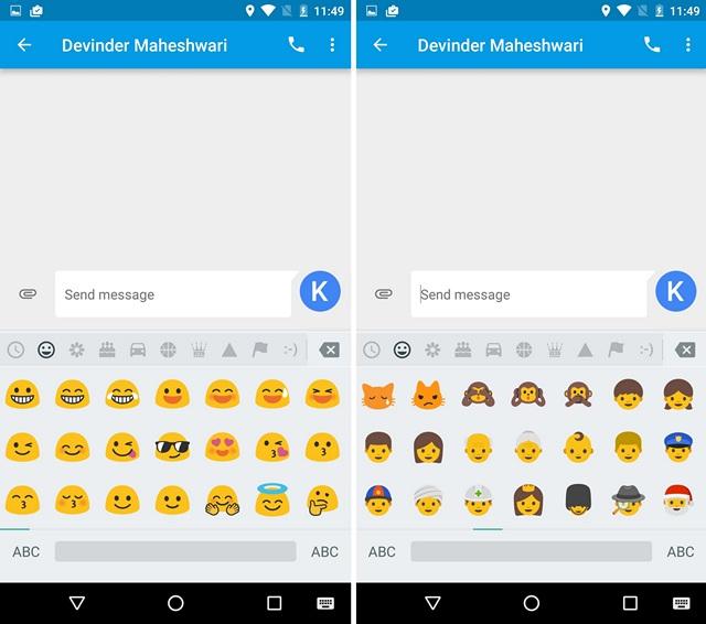 Android N Emojis