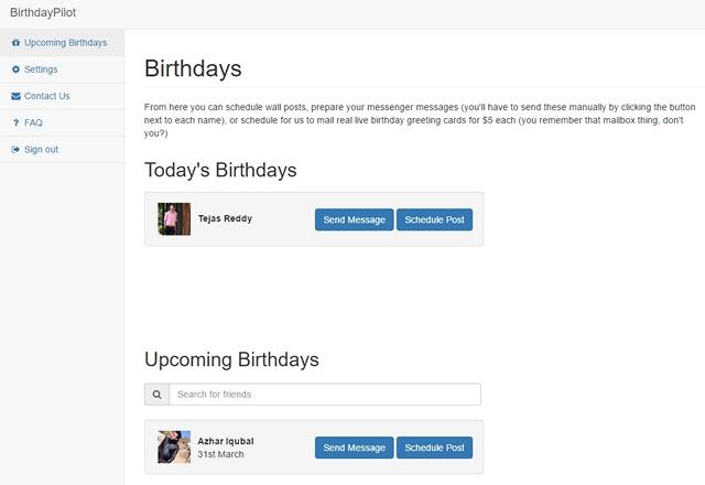BirthdayPilot for Facebook