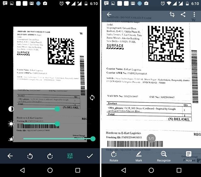 CamScanner Scan edit