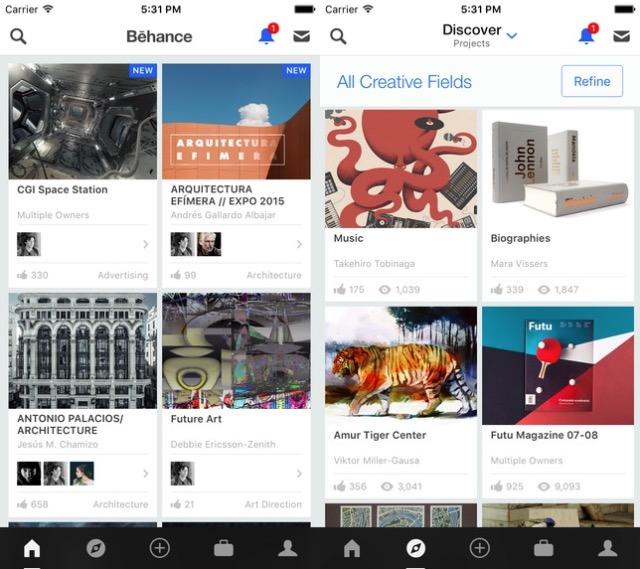 Designer Apps -bb- Behance