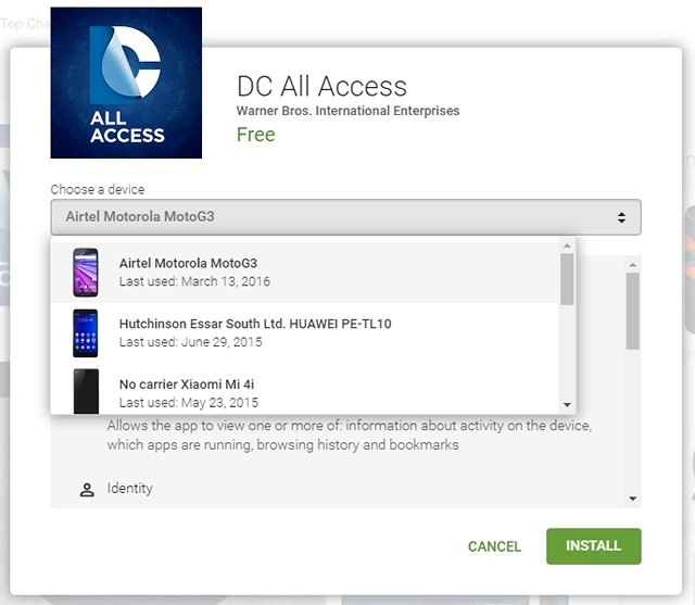 Google Play Tips Choose device web