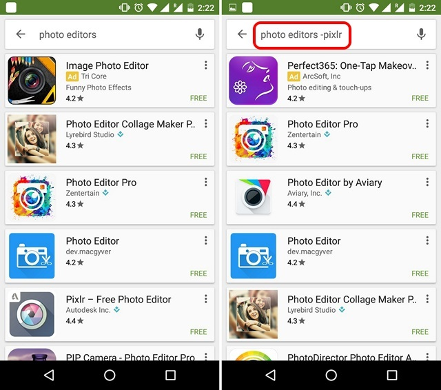 Google Play Tips omit results