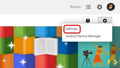 Google Play Web Settings