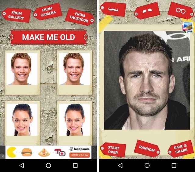 Make Me Old Android App