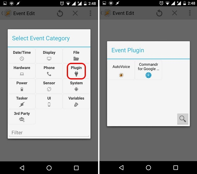 Tasker Event Categories