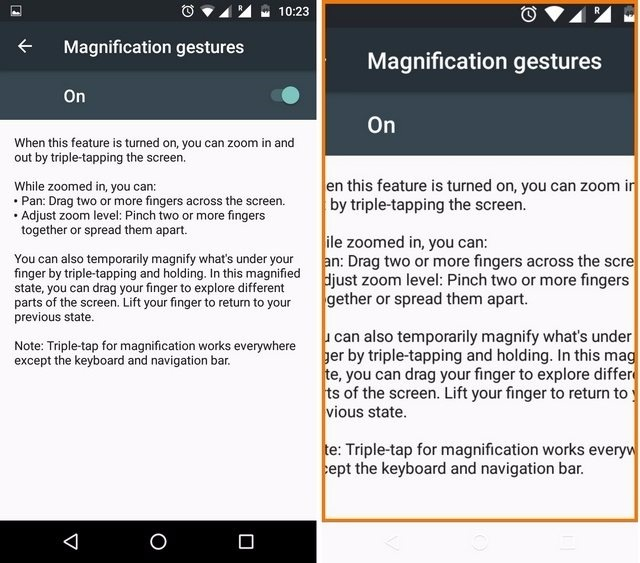 Android Magnification Gestures