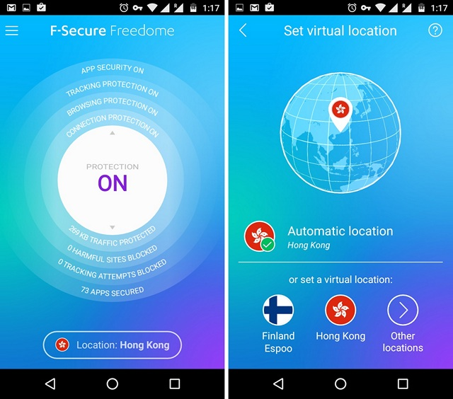 Freedome VPN Android app