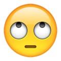 Resultado de imagen de whatsapp emoji eyes up