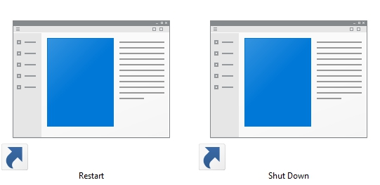 Windows 10 Restart and Shutdown Shortcuts