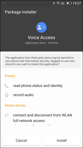 allow voice acces