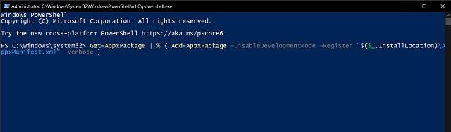 7. Can't Open Start Menu in Windows 10