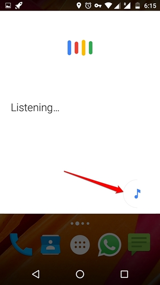 Google Now Music search