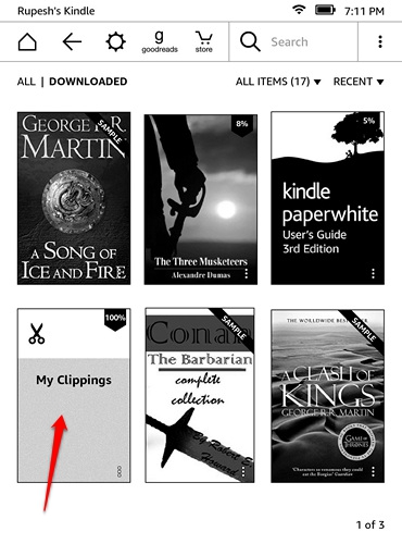 Kindle Clippings