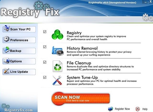 RegistryFix DLL Fixer software