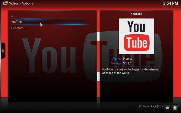 kodi-youtube-added