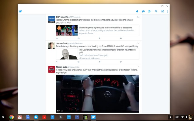 Android apps running on Chrome OS