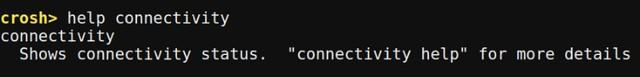 Chrome OS Crosh help with command